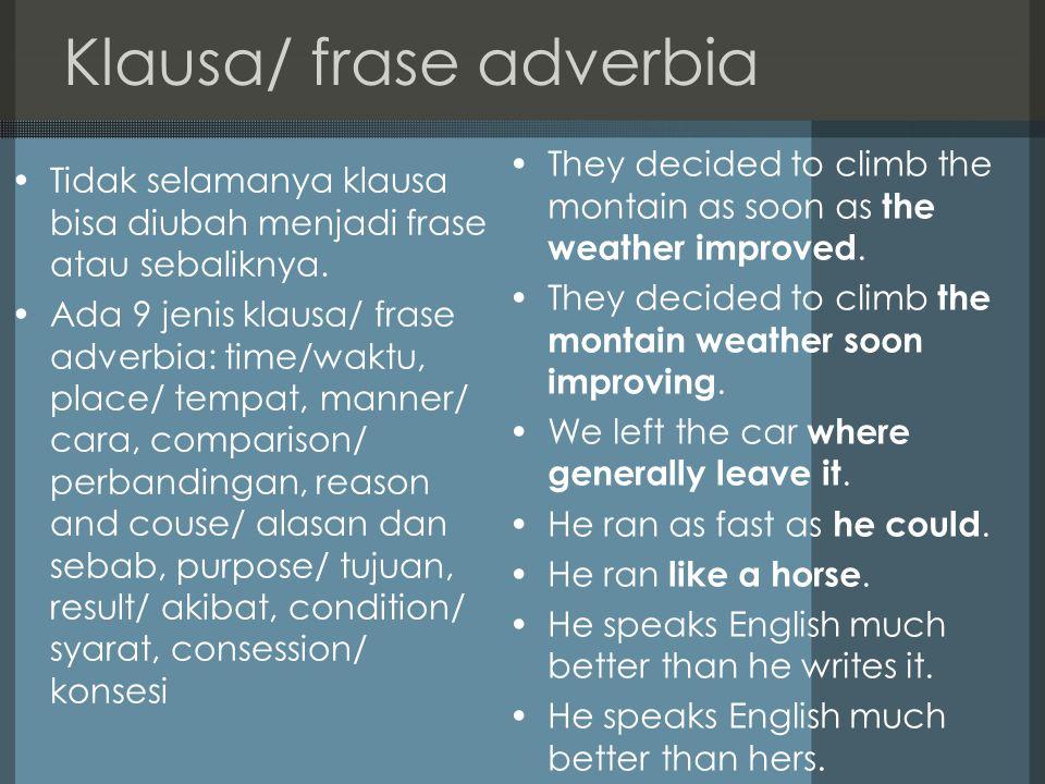 Klausa/ frase adverbia