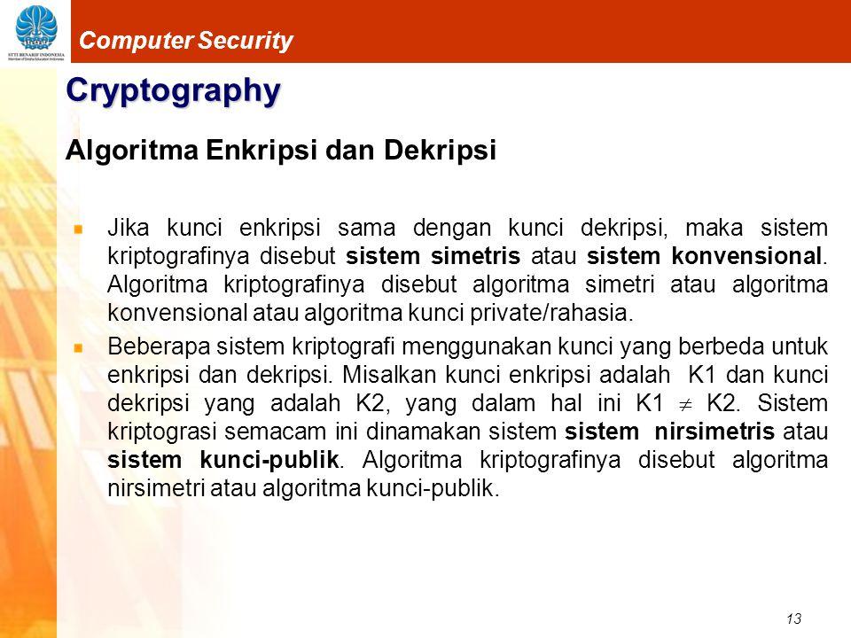 Cryptography Algoritma Enkripsi dan Dekripsi