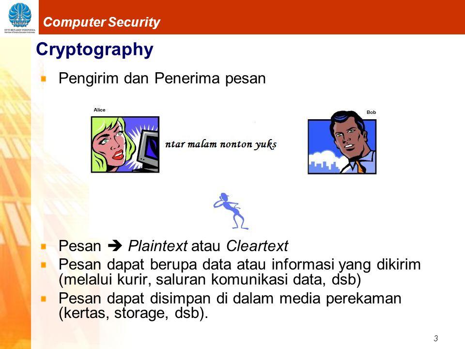 Cryptography Pengirim dan Penerima pesan