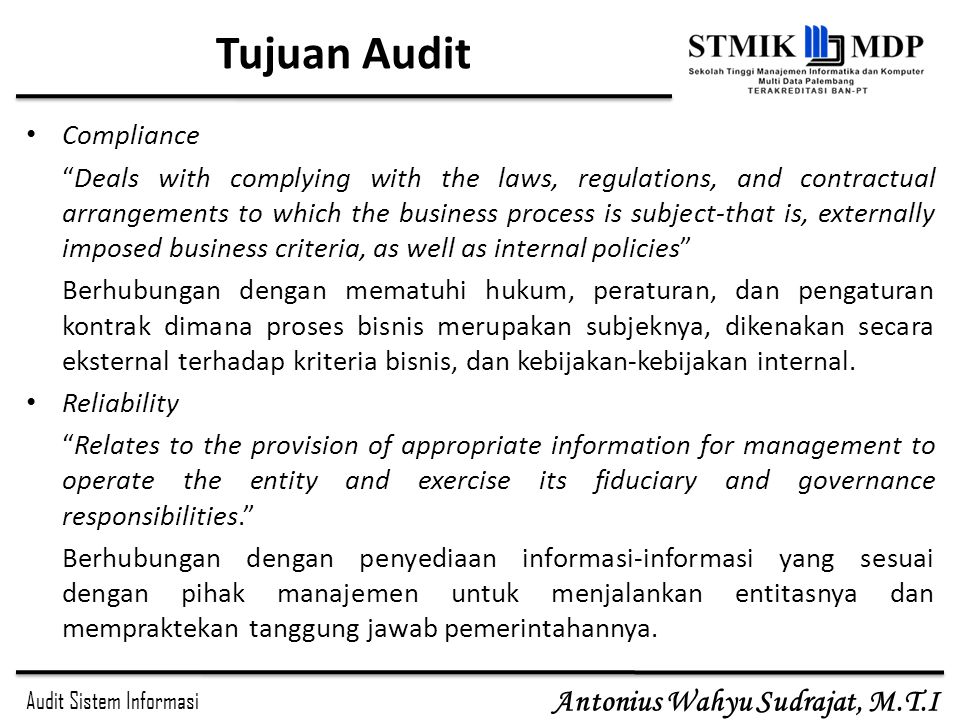 Tujuan Audit Compliance