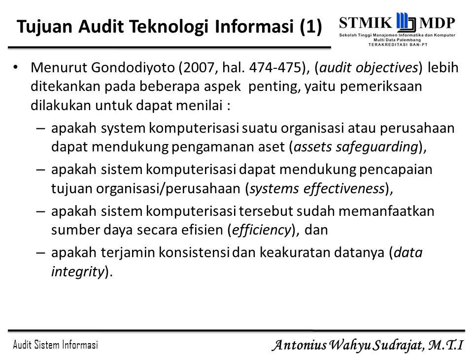 Tujuan Audit Teknologi Informasi (1)