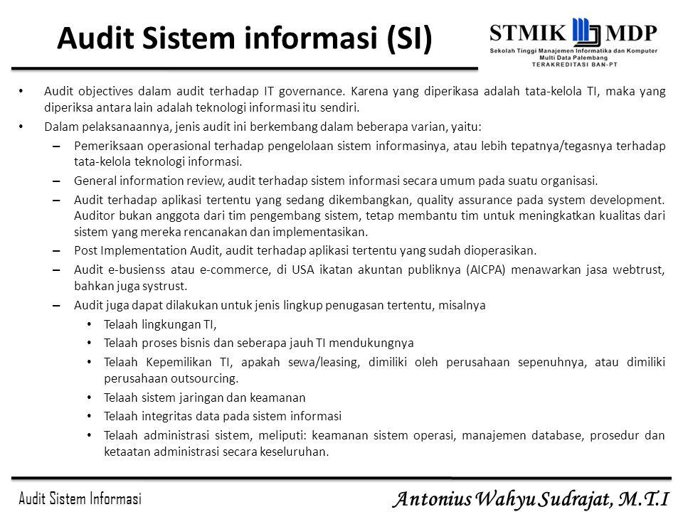 Audit Sistem informasi (SI)