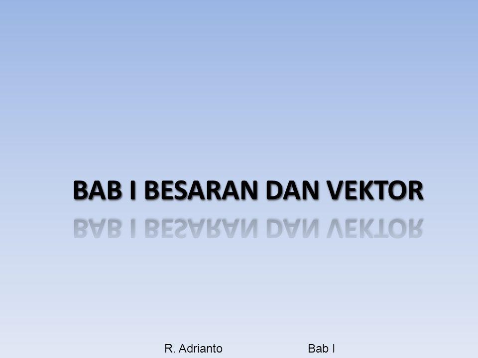 BAB I BESARAN DAN VEKTOR