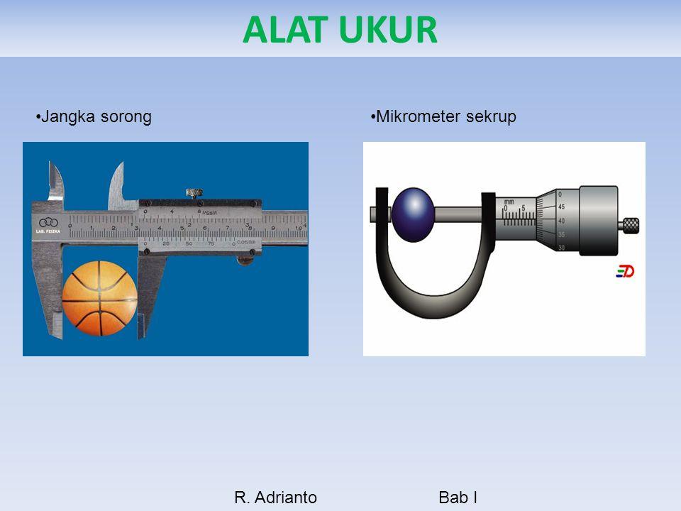 ALAT UKUR Jangka sorong Mikrometer sekrup R. Adrianto Bab I