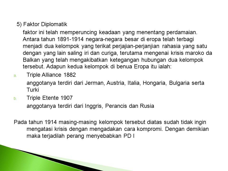 5) Faktor Diplomatik