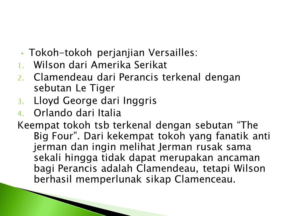 Tokoh-tokoh perjanjian Versailles: