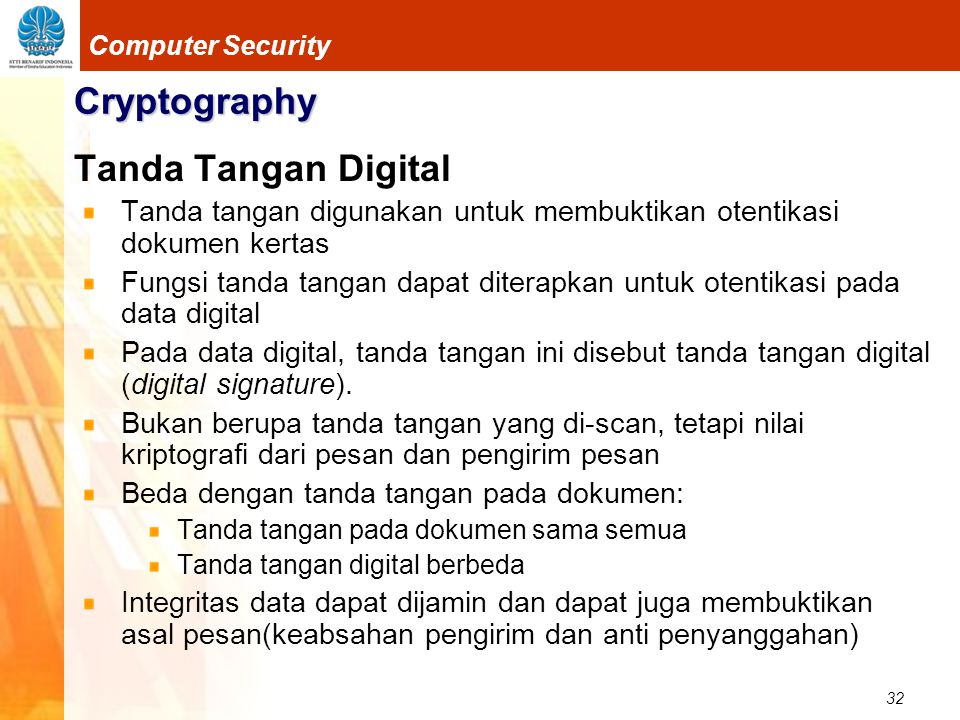 Cryptography Tanda Tangan Digital