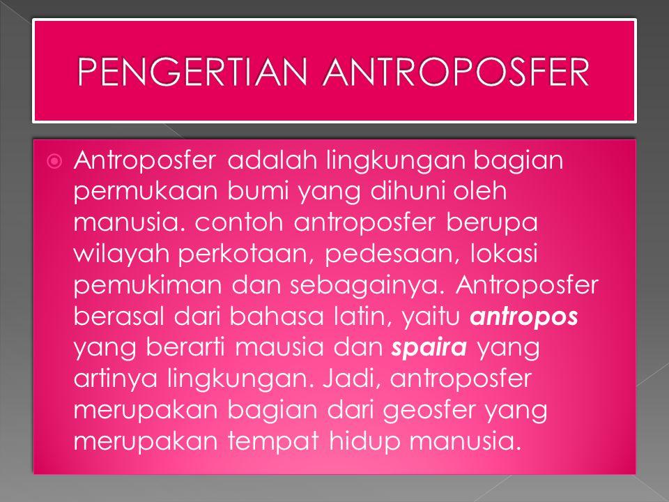 PENGERTIAN ANTROPOSFER