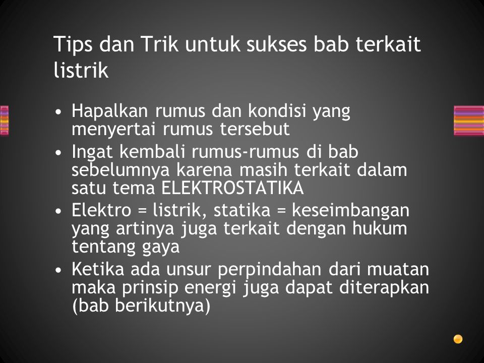 Tips dan Trik untuk sukses bab terkait listrik