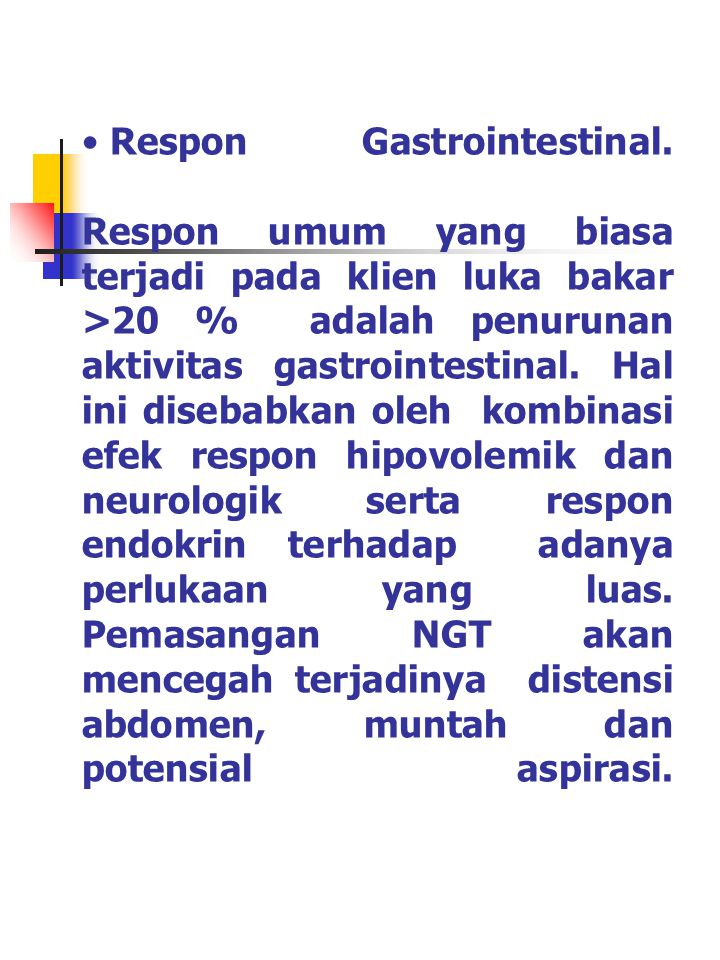 Respon Gastrointestinal