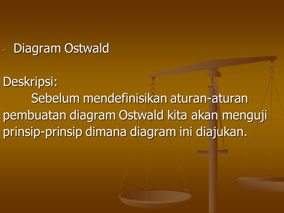 Diagram Ostwald Deskripsi: Sebelum mendefinisikan aturan-aturan. pembuatan diagram Ostwald kita akan menguji.