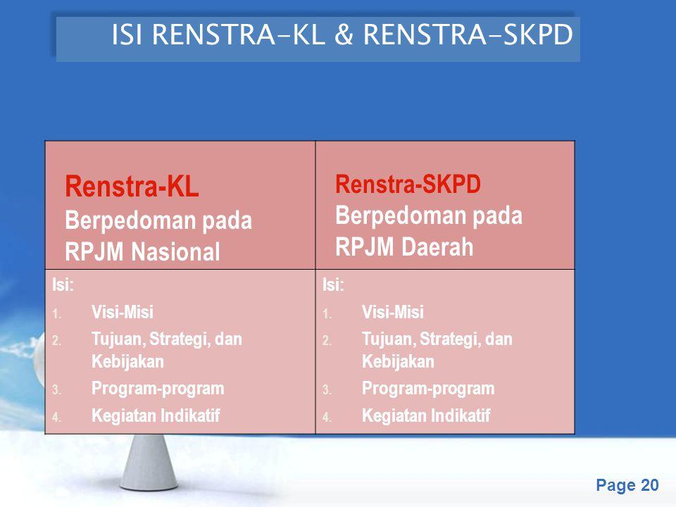 ISI RENSTRA-KL & RENSTRA-SKPD