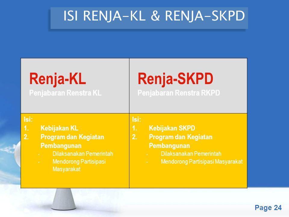 ISI RENJA-KL & RENJA-SKPD