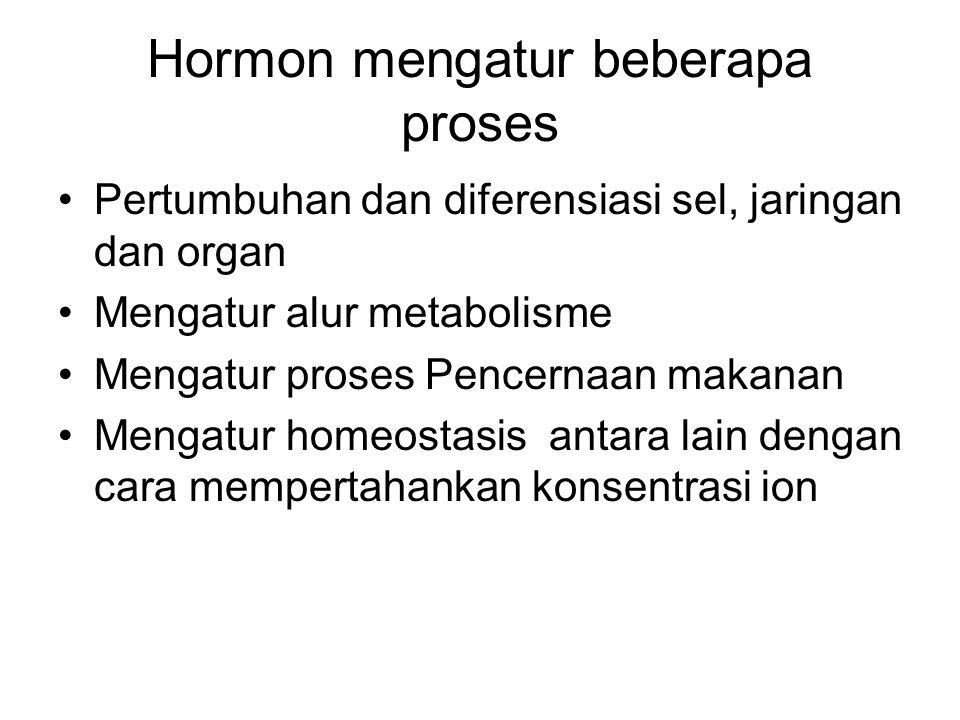 Hormon mengatur beberapa proses
