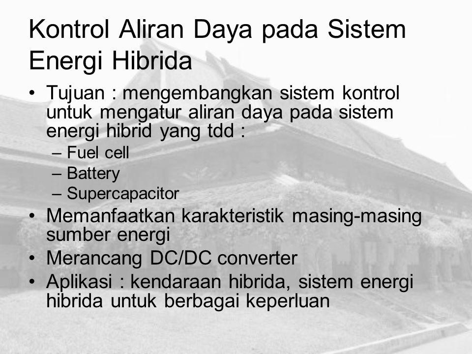 Kontrol Aliran Daya pada Sistem Energi Hibrida