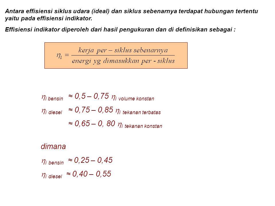 hi bensin ≈ 0,5 – 0,75 hi volume konstan