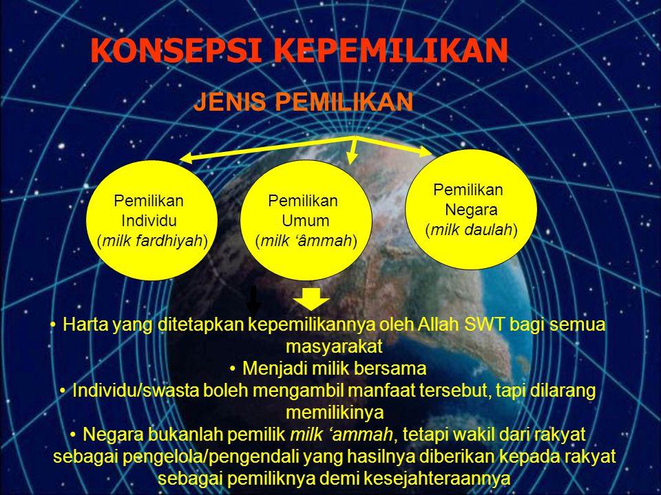 KONSEPSI KEPEMILIKAN JENIS PEMILIKAN