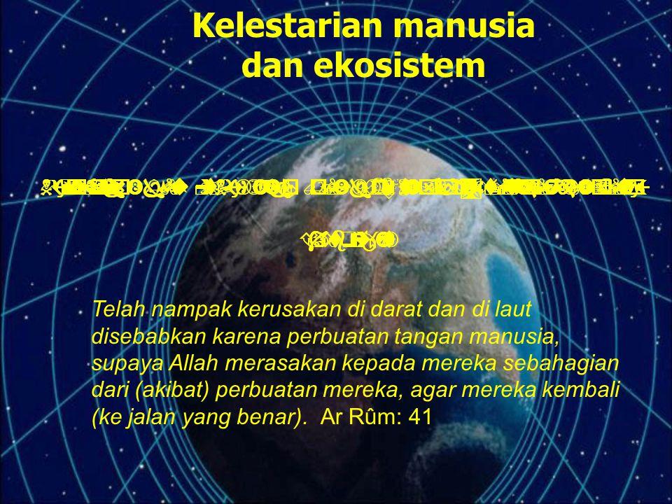 Kelestarian manusia dan ekosistem