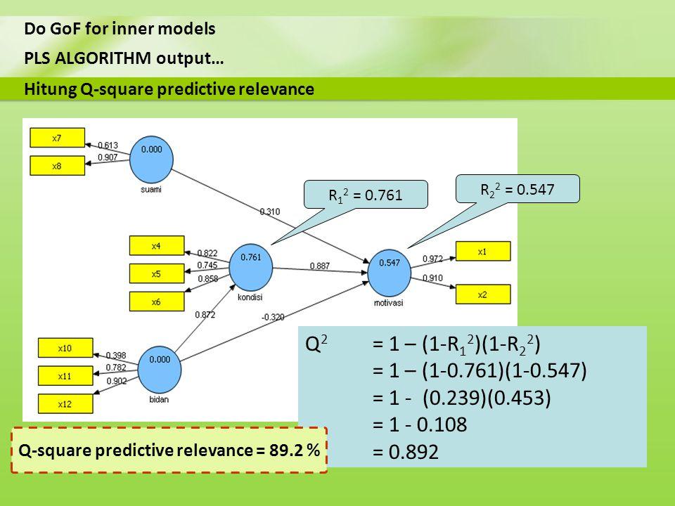 Q-square predictive relevance = 89.2 %