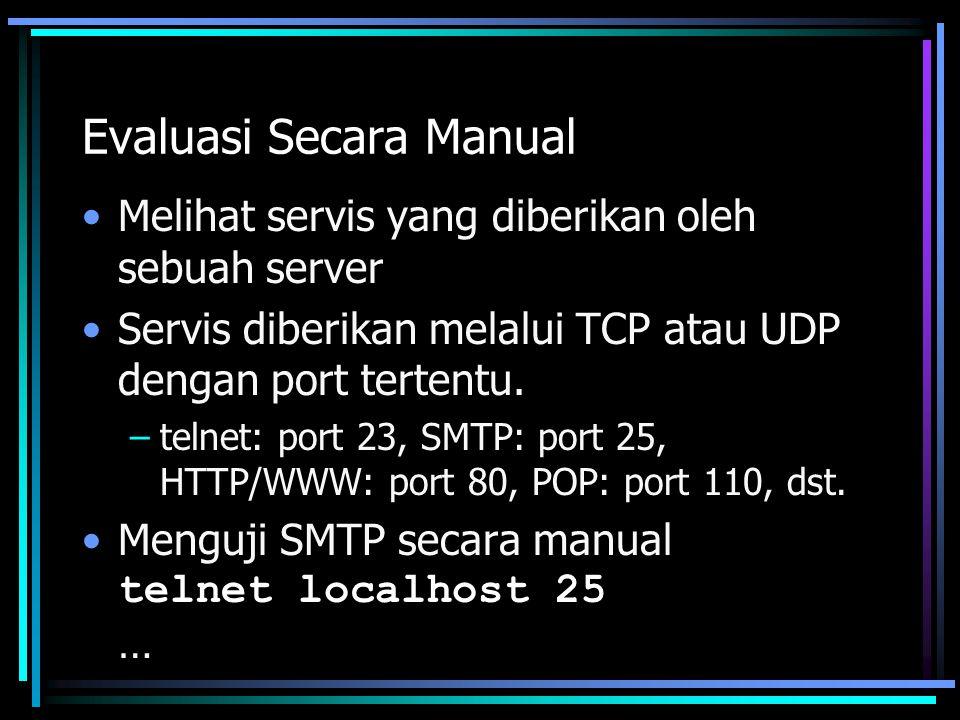 Evaluasi Secara Manual