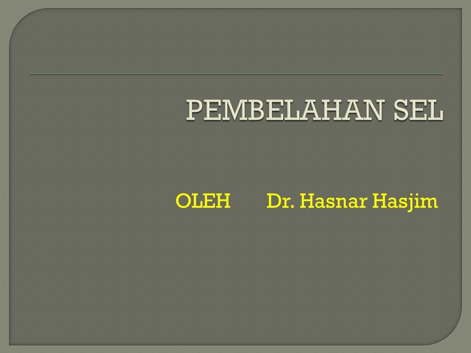 PEMBELAHAN SEL OLEH Dr. Hasnar Hasjim