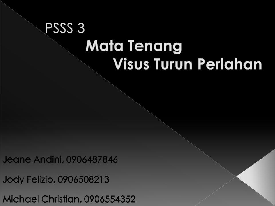 PSSS 3 Mata Tenang Visus Turun Perlahan