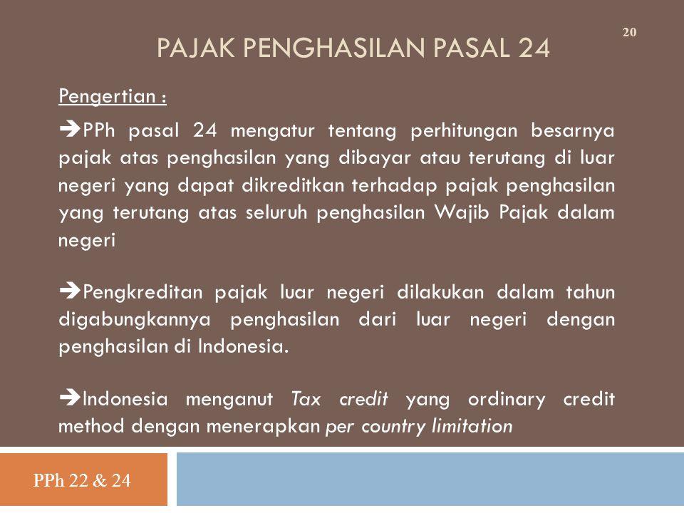 PAJAK PENGHASILAN PASAL 24
