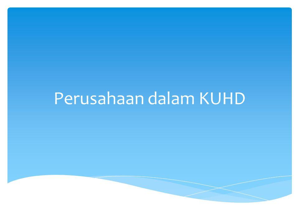 Perusahaan dalam KUHD