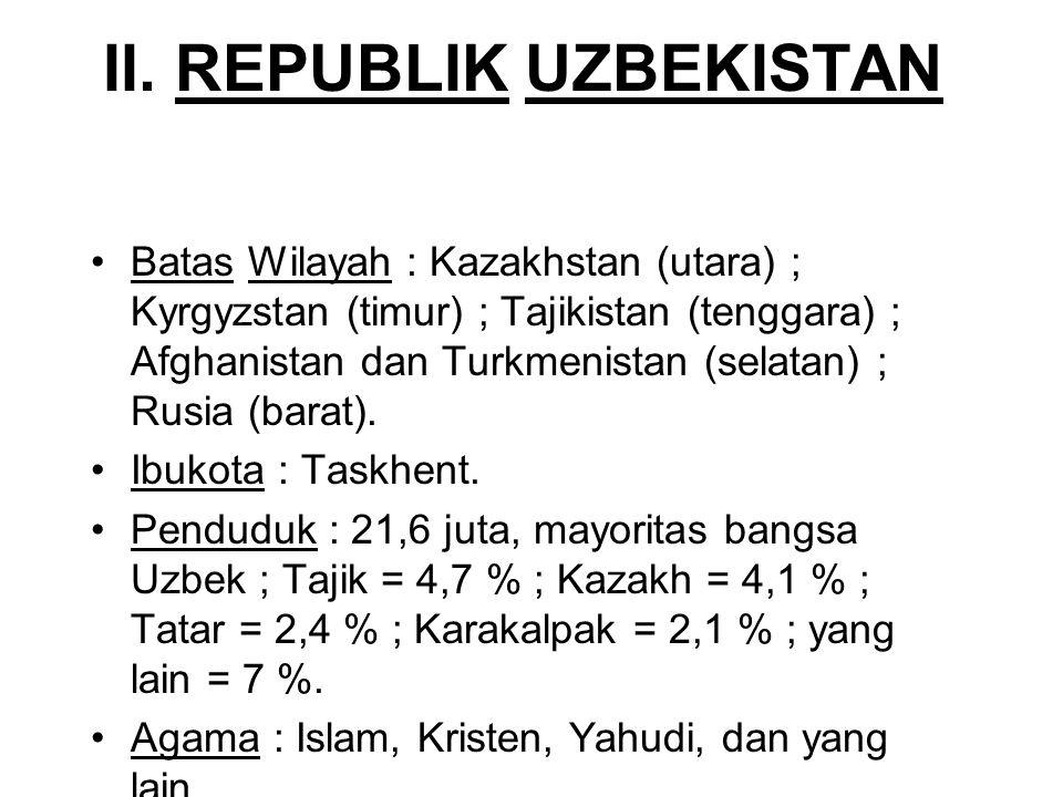 II. REPUBLIK UZBEKISTAN