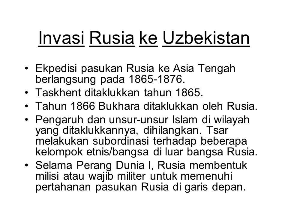Invasi Rusia ke Uzbekistan