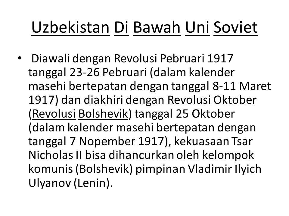 Uzbekistan Di Bawah Uni Soviet