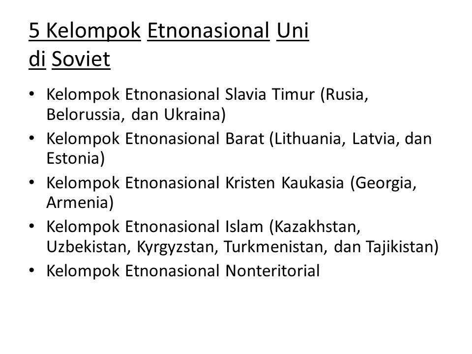 5 Kelompok Etnonasional Uni di Soviet