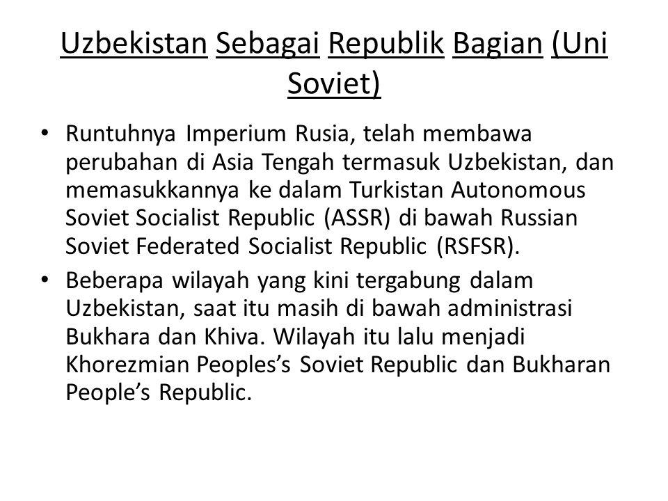 Uzbekistan Sebagai Republik Bagian (Uni Soviet)