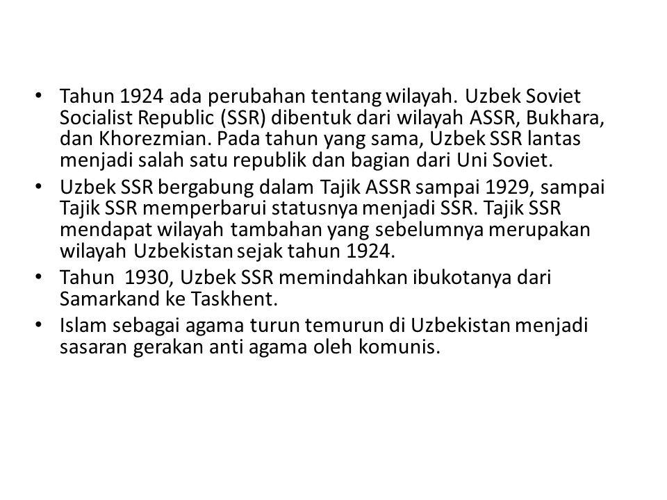 Tahun 1924 ada perubahan tentang wilayah