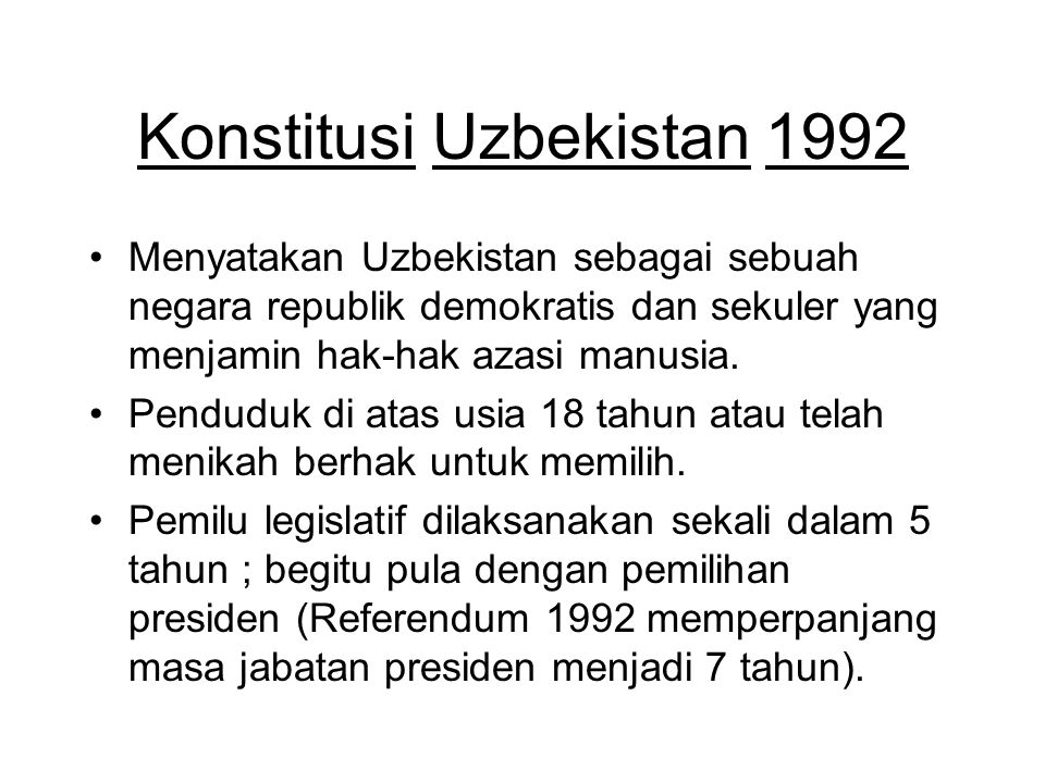 Konstitusi Uzbekistan 1992