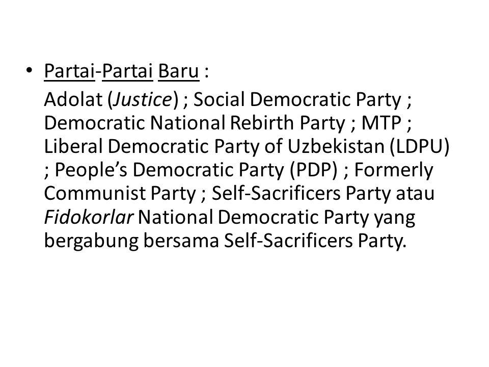 Partai-Partai Baru :