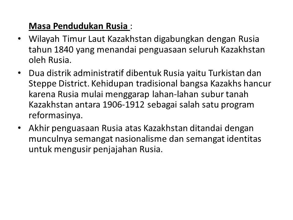 Masa Pendudukan Rusia :