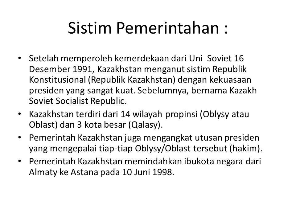 Sistim Pemerintahan :
