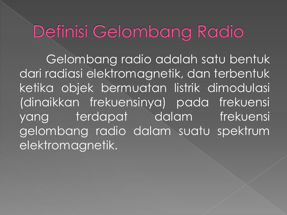 Definisi Gelombang Radio