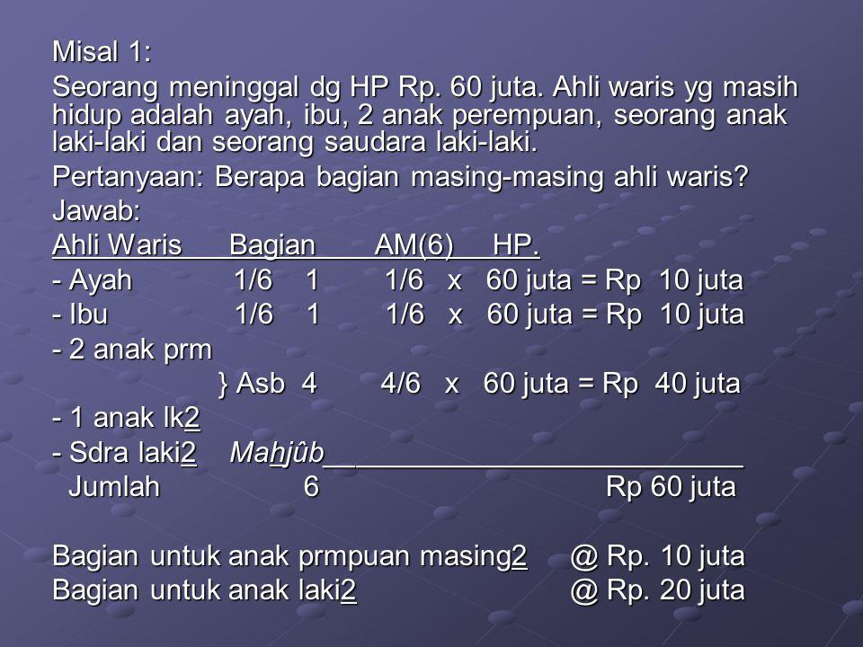 Misal 1: