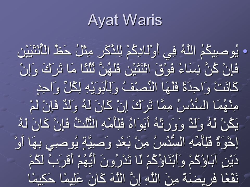 Ayat Waris