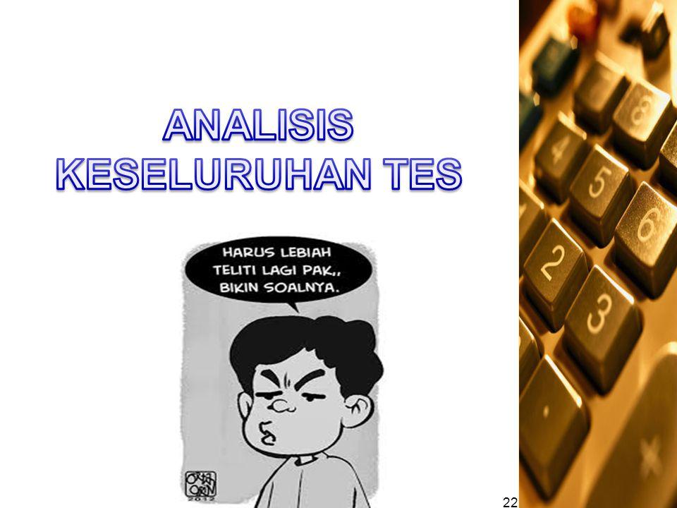 ANALISIS KESELURUHAN TES