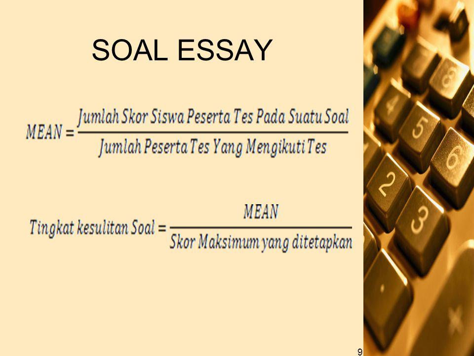SOAL ESSAY