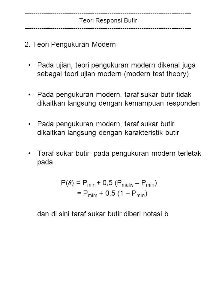 2. Teori Pengukuran Modern