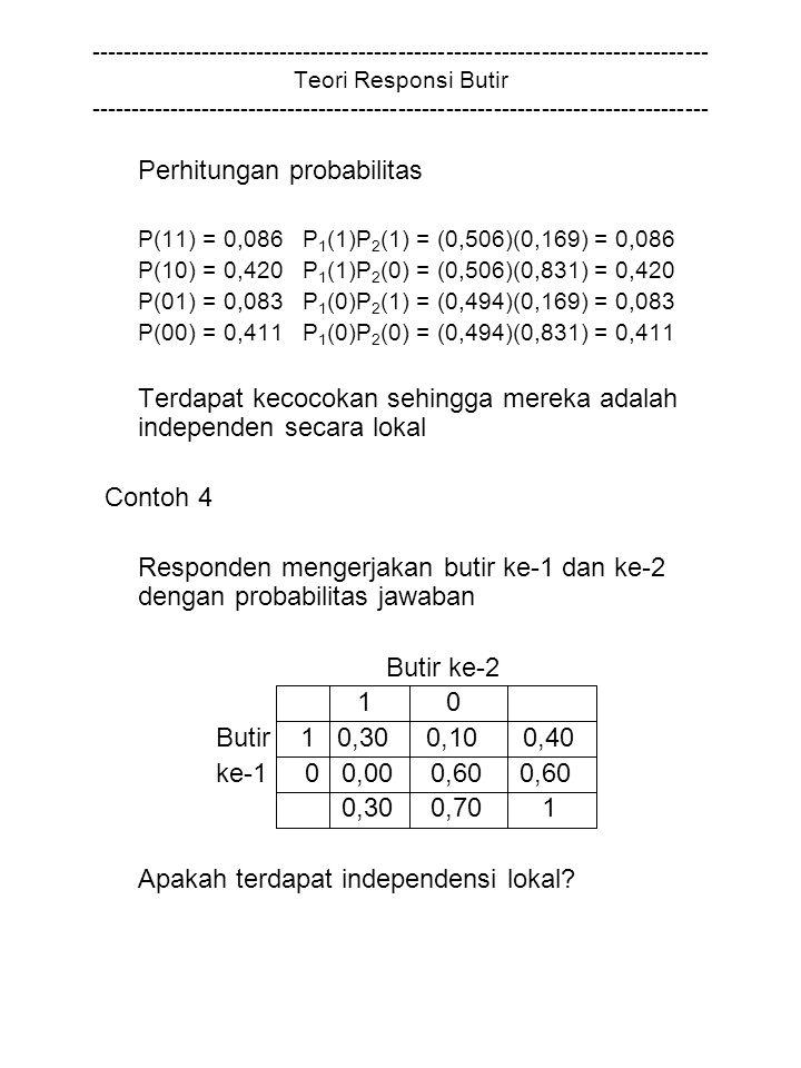 Perhitungan probabilitas