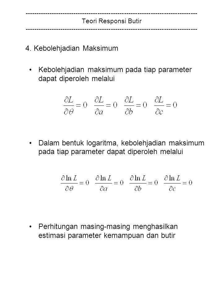 4. Kebolehjadian Maksimum