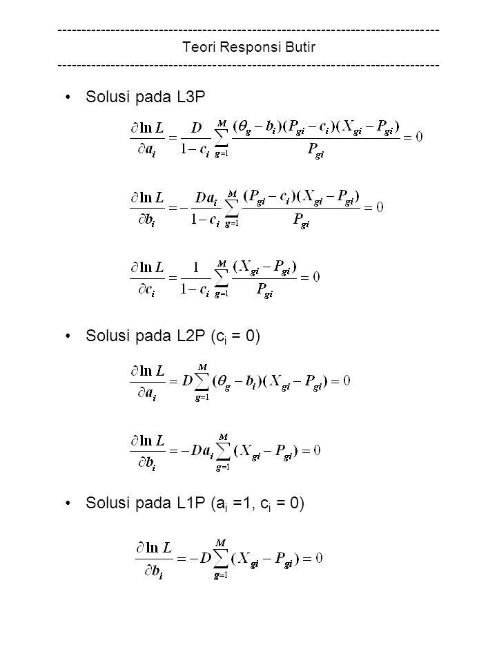 Solusi pada L1P (ai =1, ci = 0)