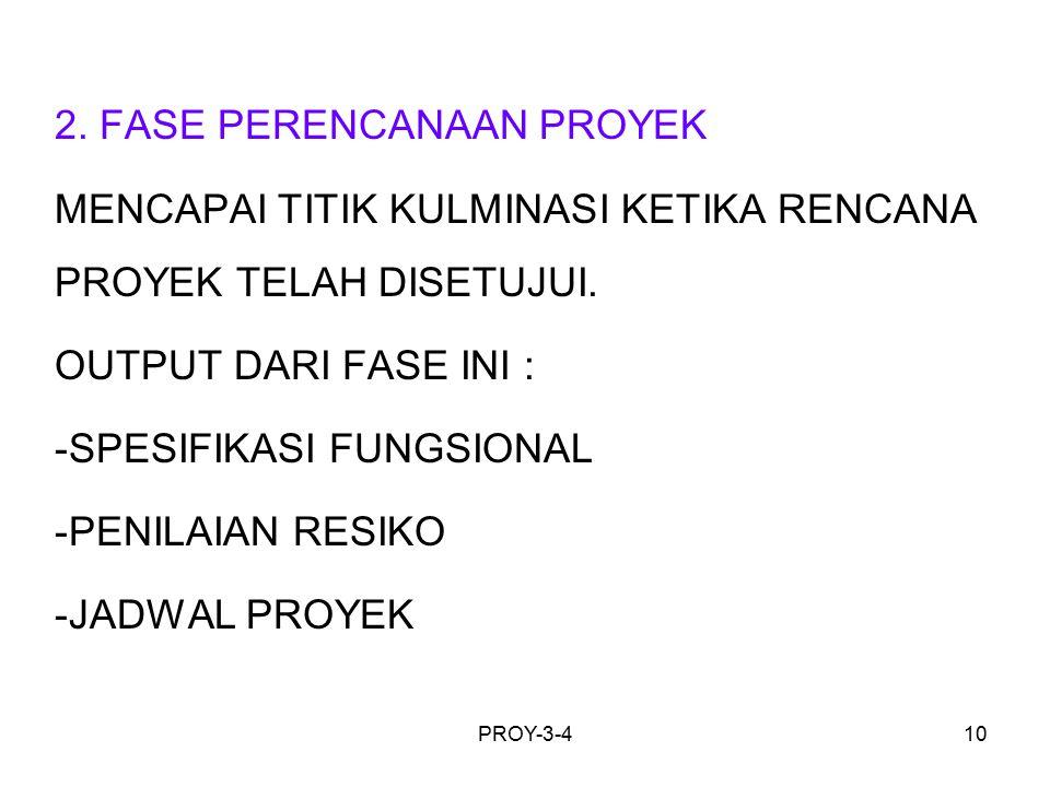 2. FASE PERENCANAAN PROYEK