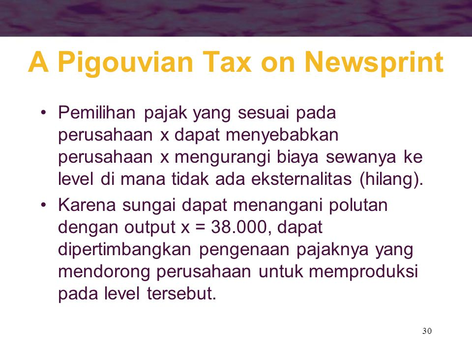 A Pigouvian Tax on Newsprint