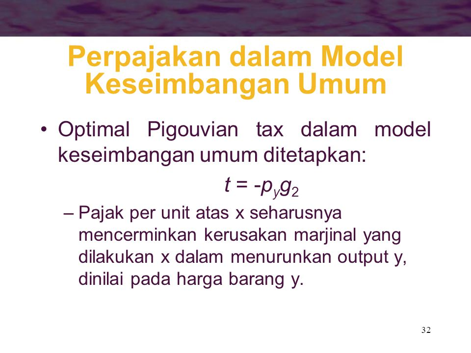 Perpajakan dalam Model Keseimbangan Umum
